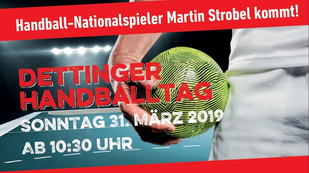 Dettinger Handballtag am 31.03.2019 in der Lindenhalle